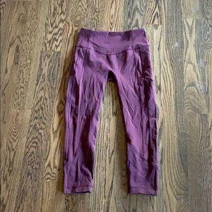 red lulu movement leggings